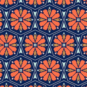 Floral songket seamless pattern template