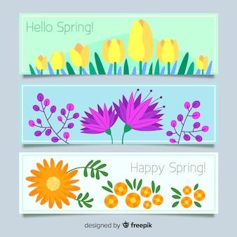 Banner di primavera floreale