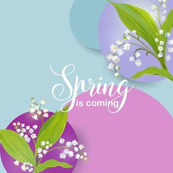 Цветочный весенний дизайн шаблона для открытки продажа баннеров плакат