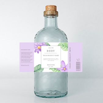 Floral spring etiquette beverage advertising