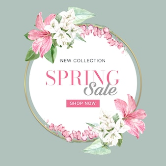Floral spring frame of sales