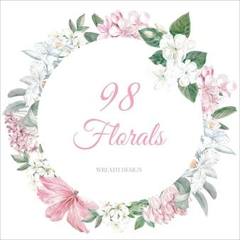 Floral spring frame