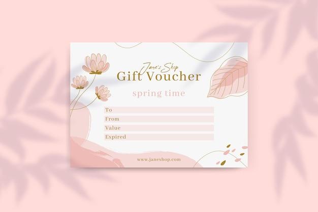 Floral spring gift voucher