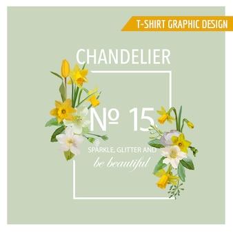Цветочный весенний графический дизайн