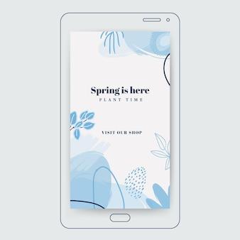 花の春のインスタグラムストーリー