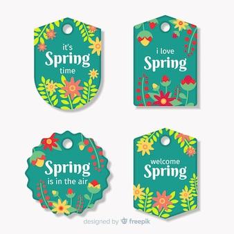 Цветочный весенний набор этикеток