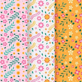 꽃 봄 패턴 컬렉션