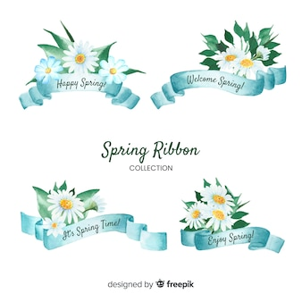 Floral spring ribbon collection