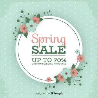 Floral spring sale background