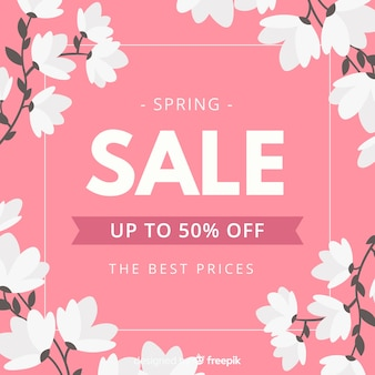 Floral spring sale background