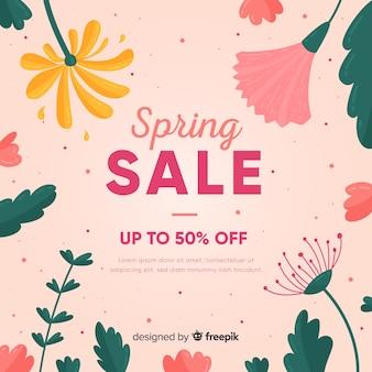 Sfondo di vendita primavera floreale