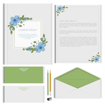 꽃 편지지 디자인