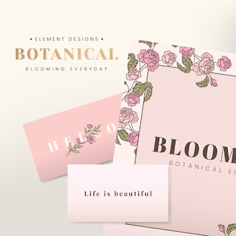 Floral stationery design