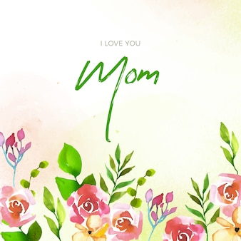 Floral style mother's day lettering