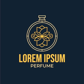 Floral style for perfume logo