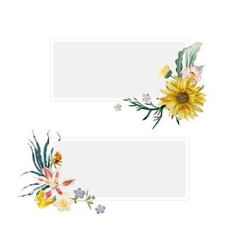 Floral summer banners