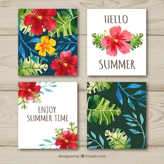 Floral summer card collection
