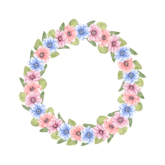 花の夏の花輪
