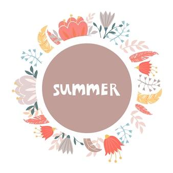 Floral summer wreath