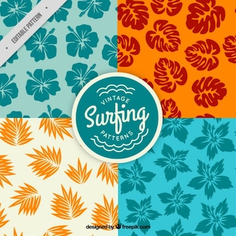 Floral surf patterns