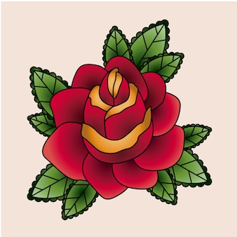 Floral  tattoo isolated icon design