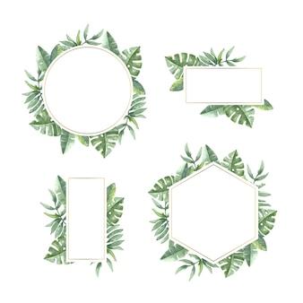 Floral template for wedding frame