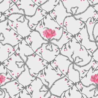 Floral Texture Background Pattern Print.