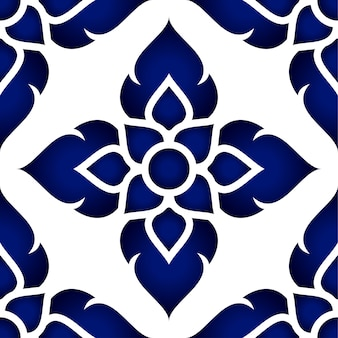 Floral thai pattern