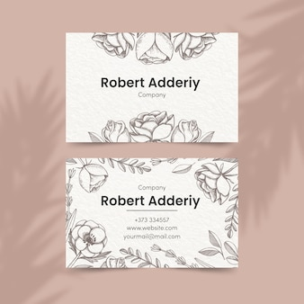 Floral theme for business card template