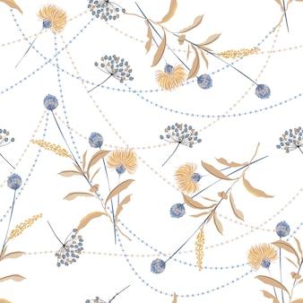 花をテーマにしたシームレスパターン