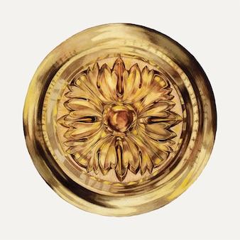 花のネクタイバックイラストベクトル、グレースハルピンによるアートワークからリミックス