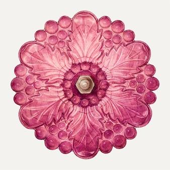 ヘレンブロンソンによるアートワークからリミックスされた花のネクタイバックイラストベクトル