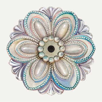 ヘンリーモランによるアートワークからリミックスされた花のネクタイバックイラストベクトル 無料ベクター