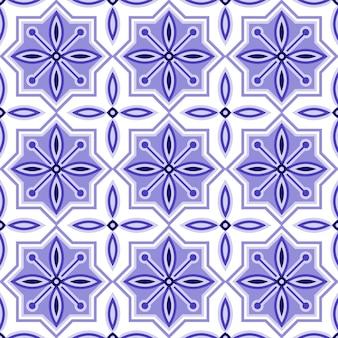 花のタイルパターン