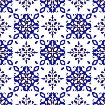 꽃 타일 패턴