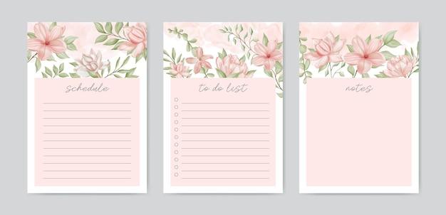 Цветочный набор шаблонов списка дел