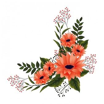 꽃 열대 만화