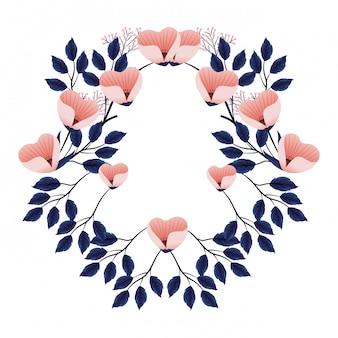 Floral tropical cartoon