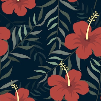 Floral tropical pattern