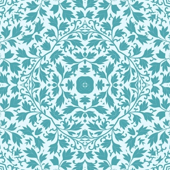 Floral turquoise pattern