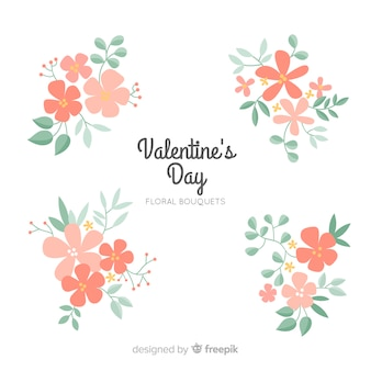 Floral valentine day background