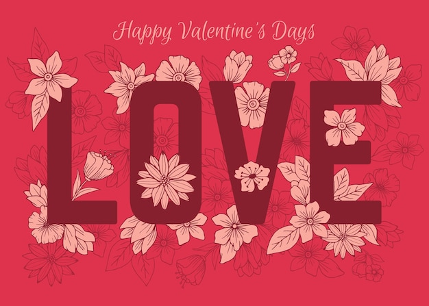 꽃 발렌타인 데이 배경