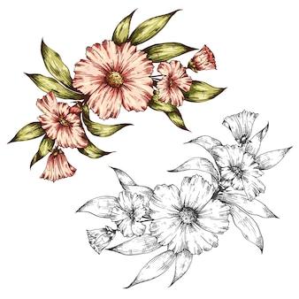 꽃 벡터 꽃다발