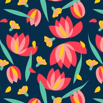 花のベクトルパターンのデザインのイラスト