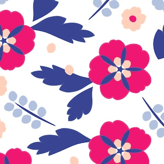 Floral vector pattern design illustration