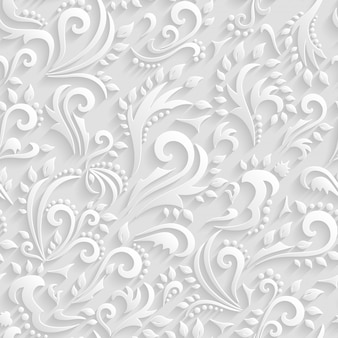 Floral victorian seamless background