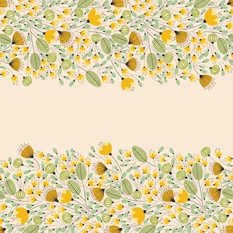 Floral vintage banner with place for your text