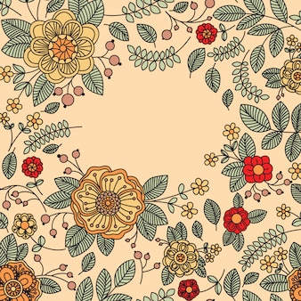 Floral vintage banner with place for your text.