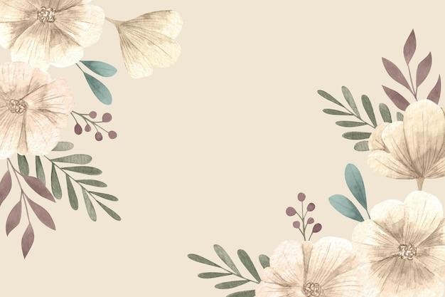 空のスペースと花の壁紙