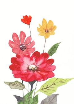 Цветочный акварельный фон искусство и дизайн
